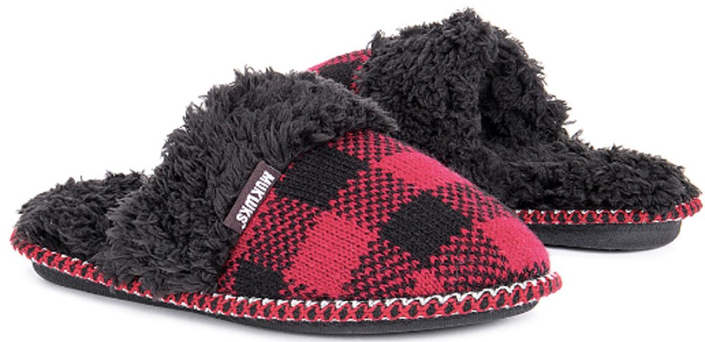 Muk Luks Buffalo Check Frida Slipper