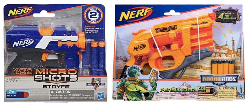 pictures of nerf guns in packaging micro shots and persuader
