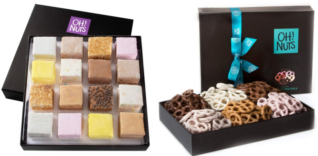 oh nuts marshmallow and pretzel gift sets