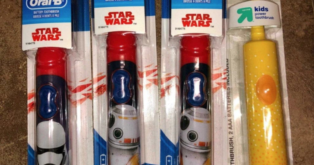 oral-b star wars and up&up toothbrushes