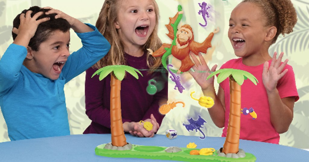 kids playing and laughing with the orangutwang game