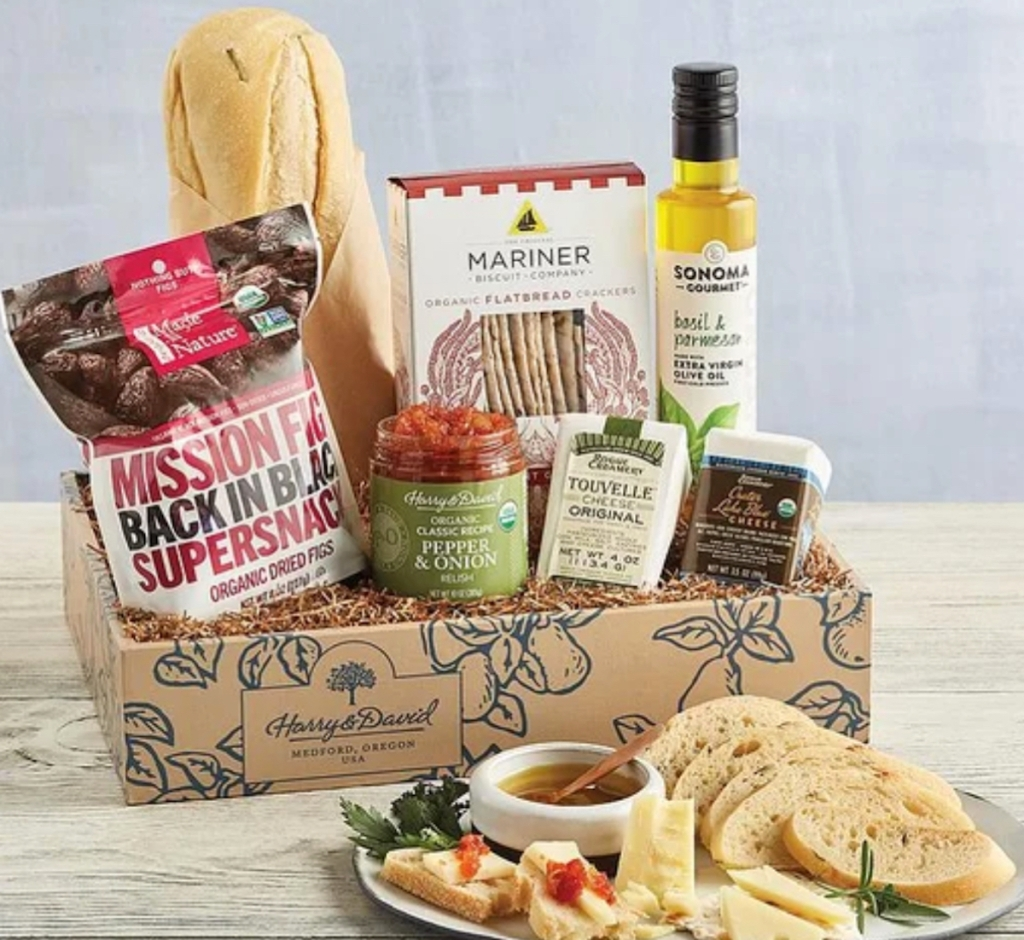 various types of food in bags and jars in box