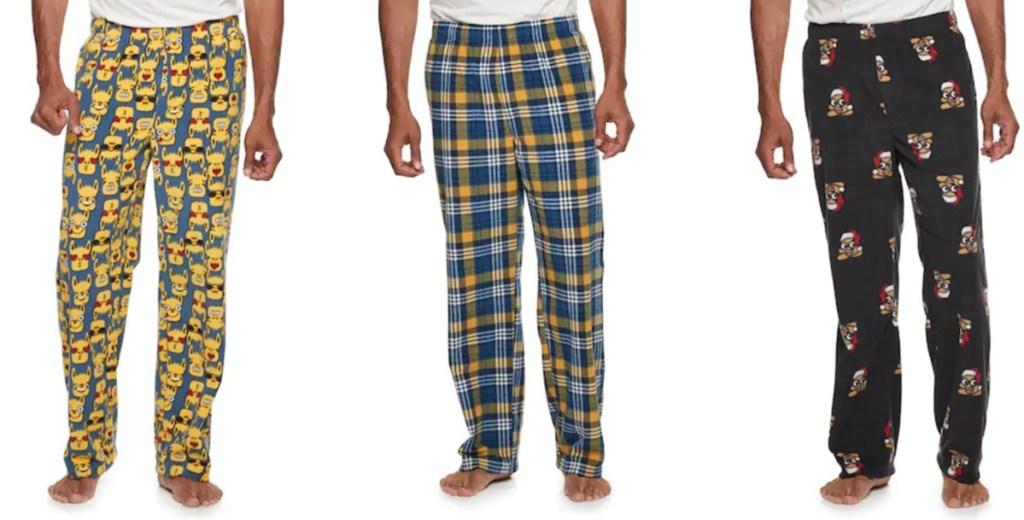 men wearing pajama pants