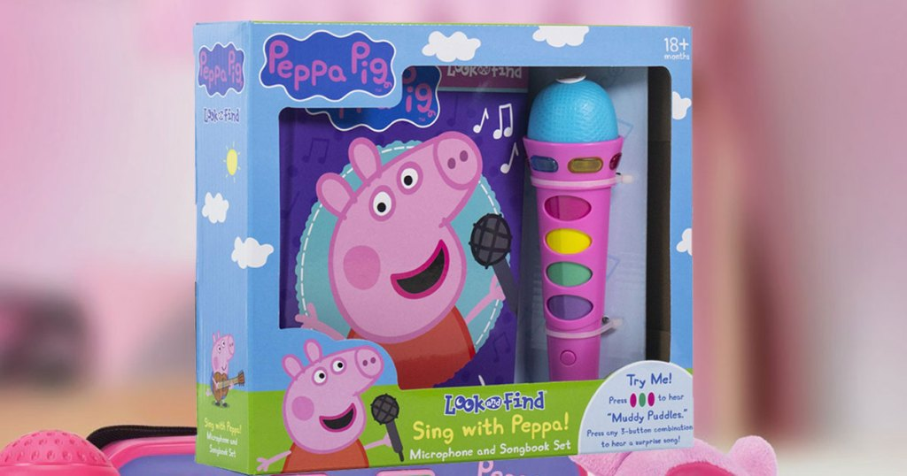stock image Peppa Pig Sing with Peppa! Microphone and Look and Find Sound Activity Book Set