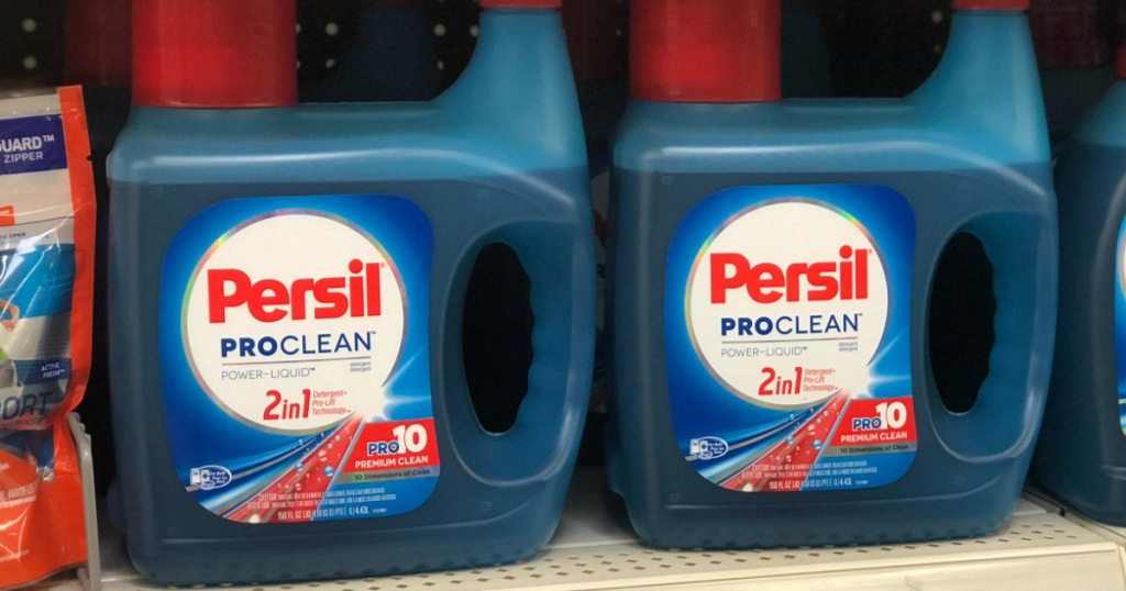 persil laundry detergent on shelf at store