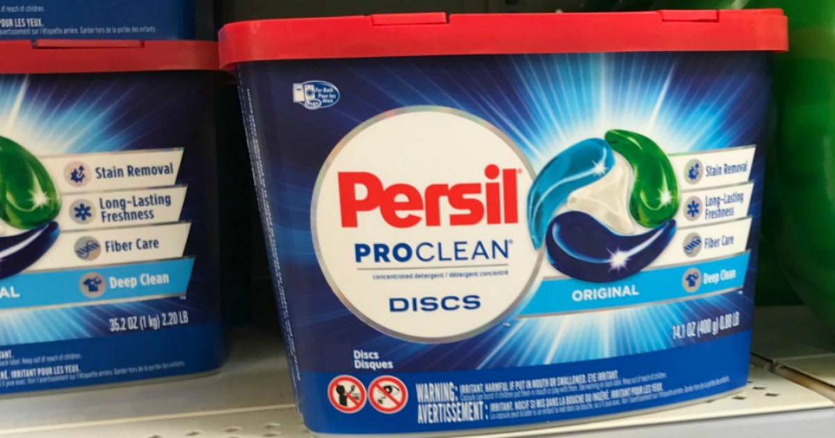 Persil Pro Clean Discs in package on store shelf