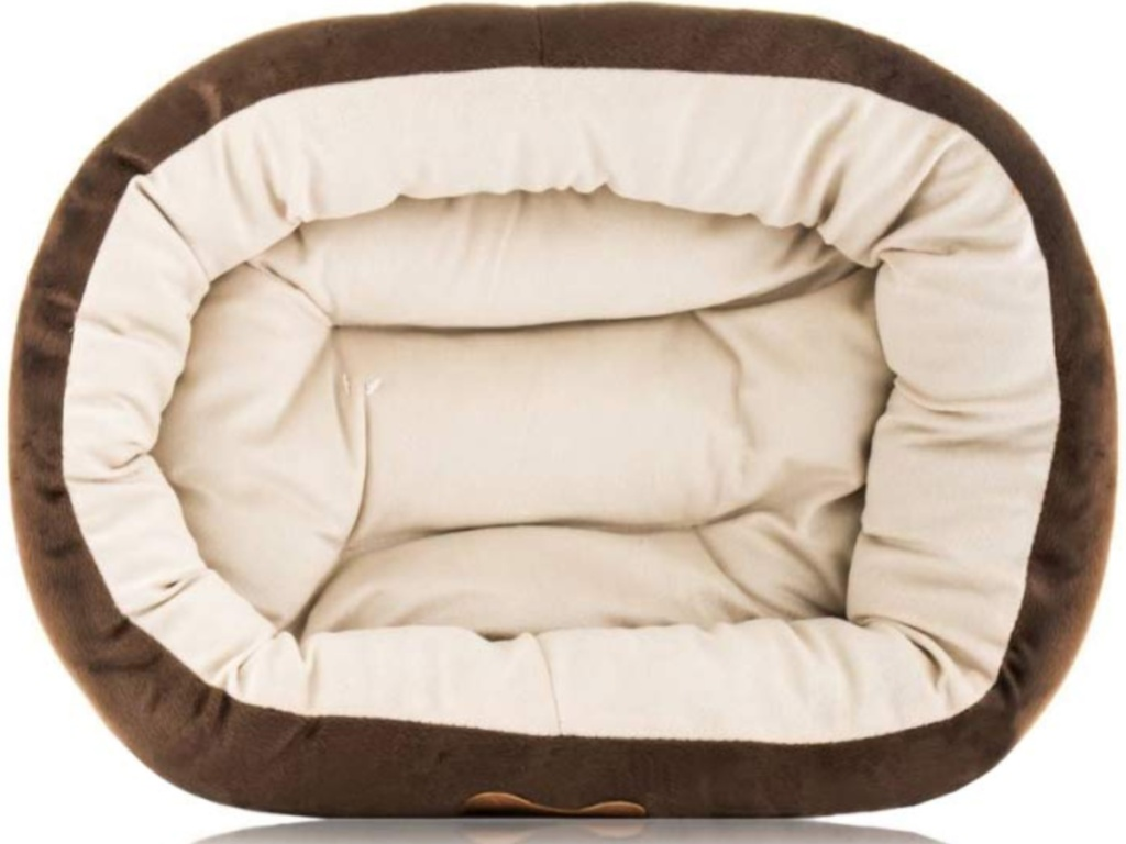 overhead view of dog bed