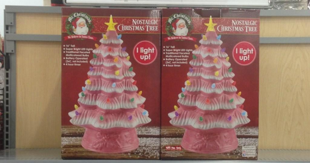 Ceramic Pre Lit 16 Christmas Tree Just 22 50 At Walmart
