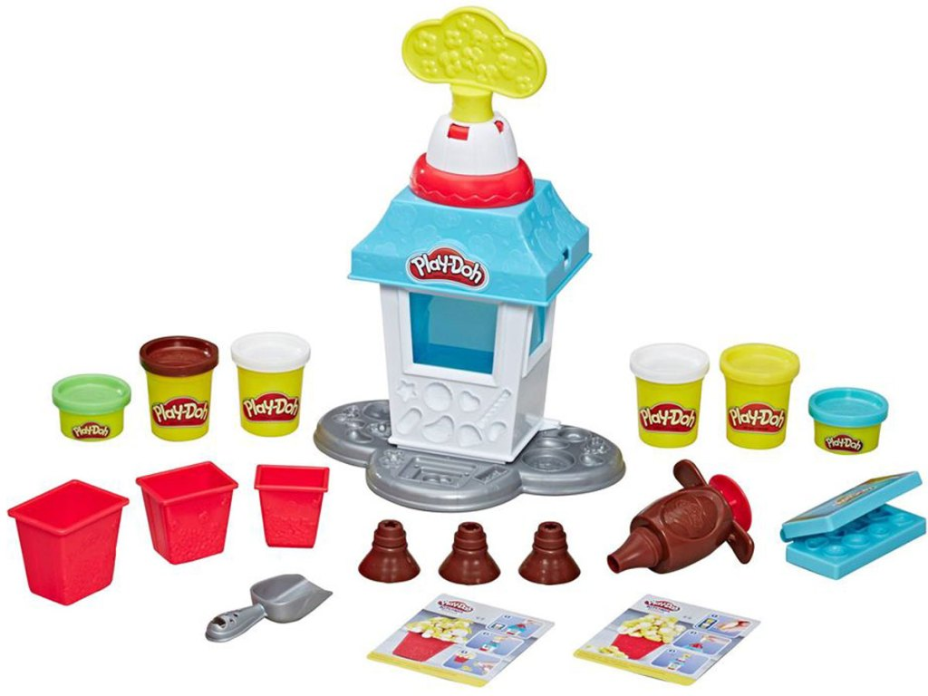 stock image of the Play-Doh Kitchen Creations Popcorn Party Play Food Set