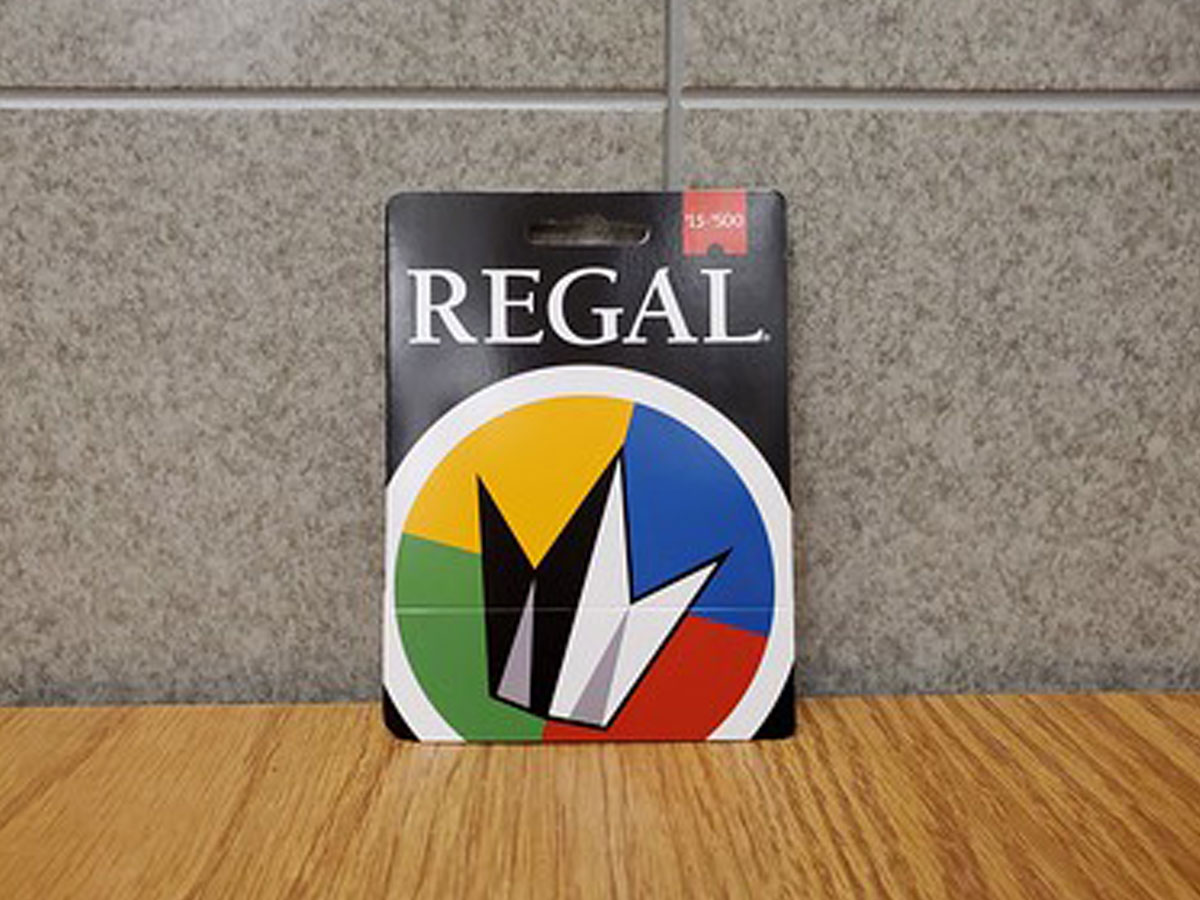 regal gift card on display