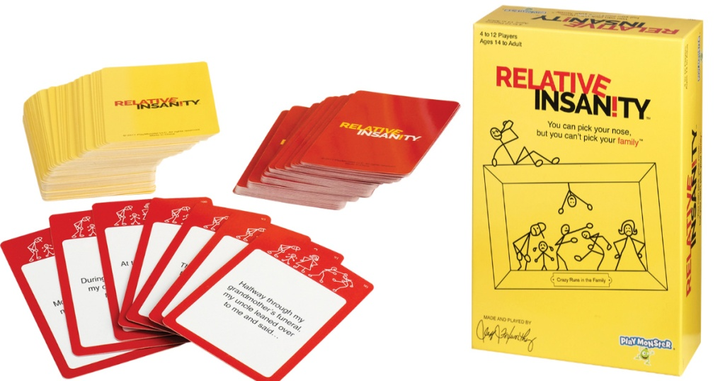 relative insanity box with cards