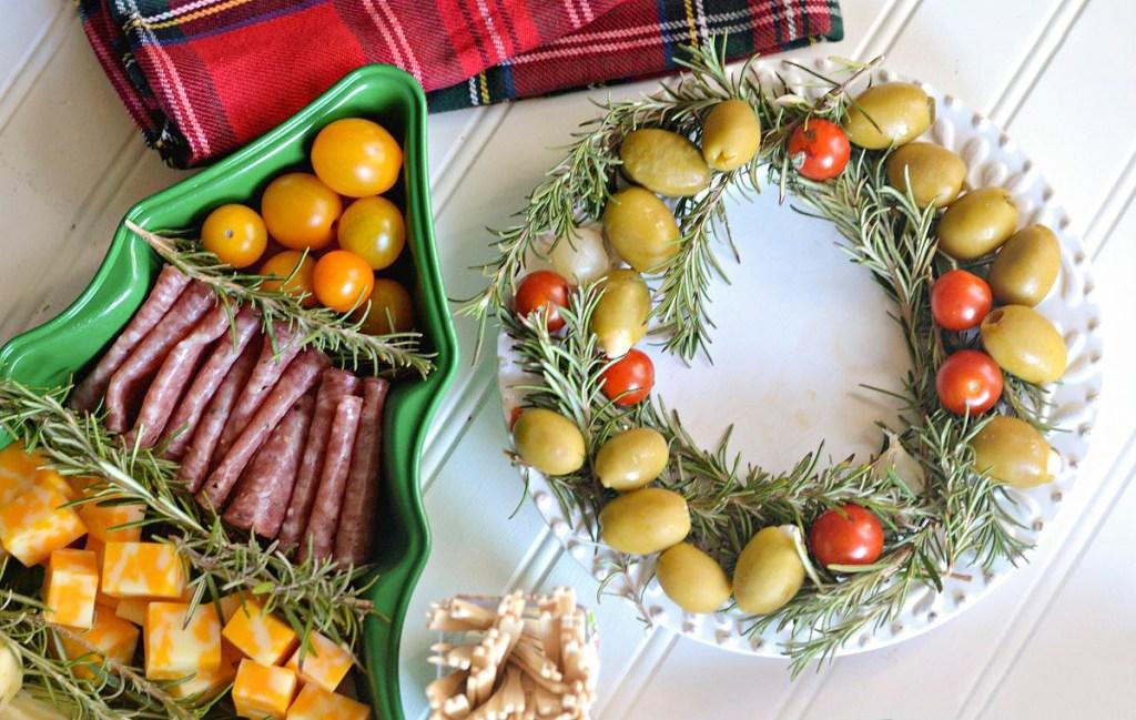 rosemary appetizer christmas platter