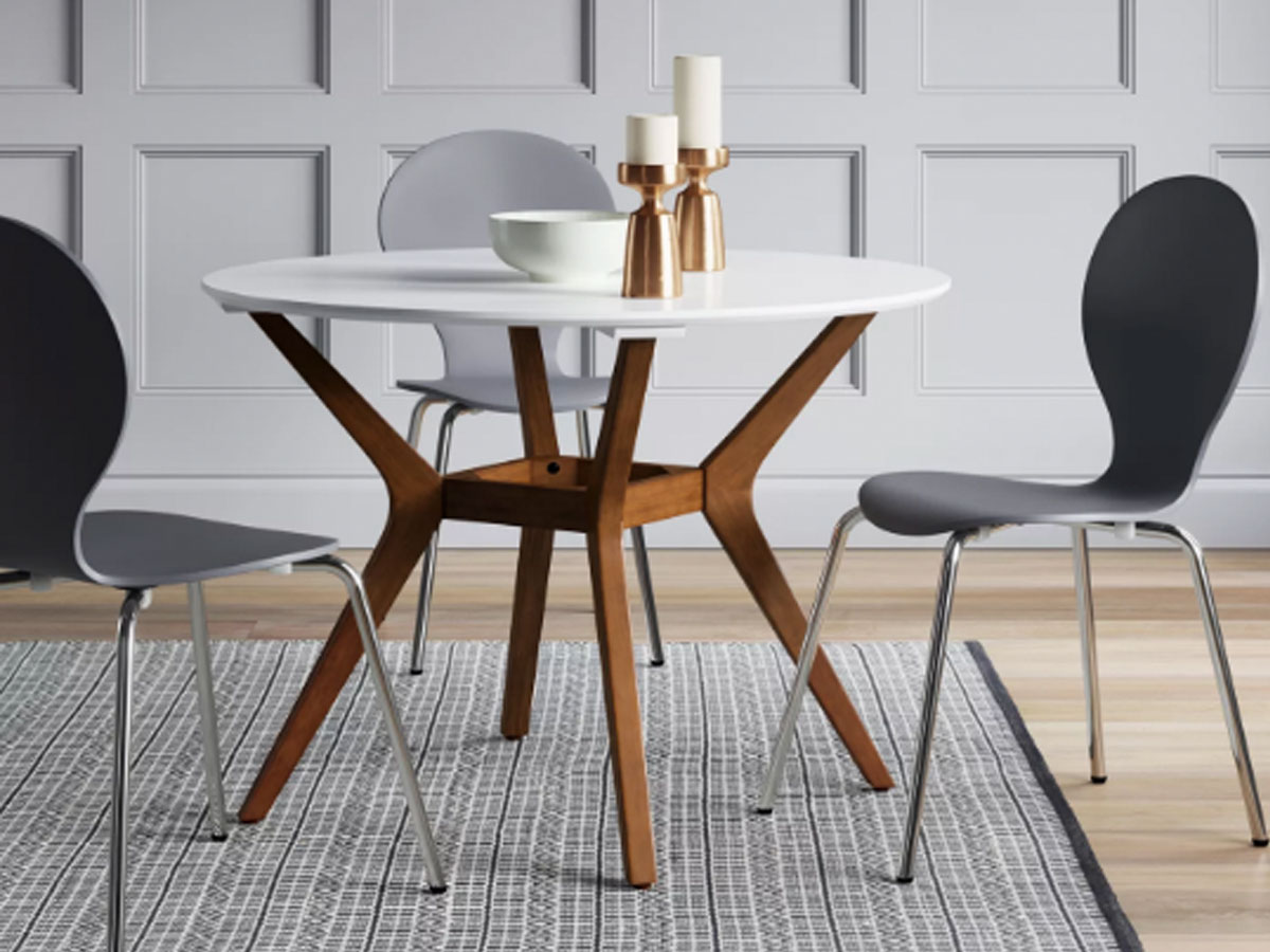 """Project 62 Emmond Mid Century 42"""" Round Dining Table in a dining room"""
