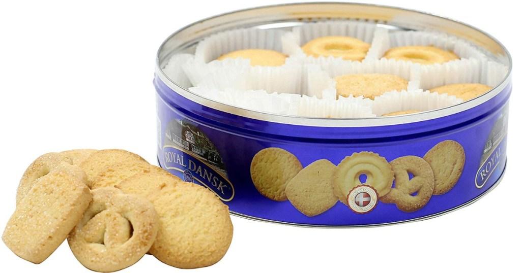 Royal Dansk Cookies in a tin