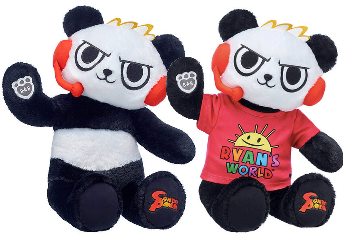 Ryan's World Combo Panda Plush with and without shirt