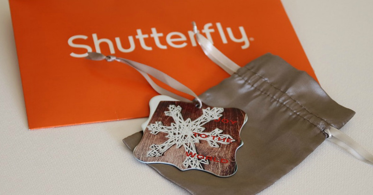 5 Personalized Shutterfly Freebies (conscionable Pay Shipping) | Metallic Ornaments, Notepads, Mugs, & Much