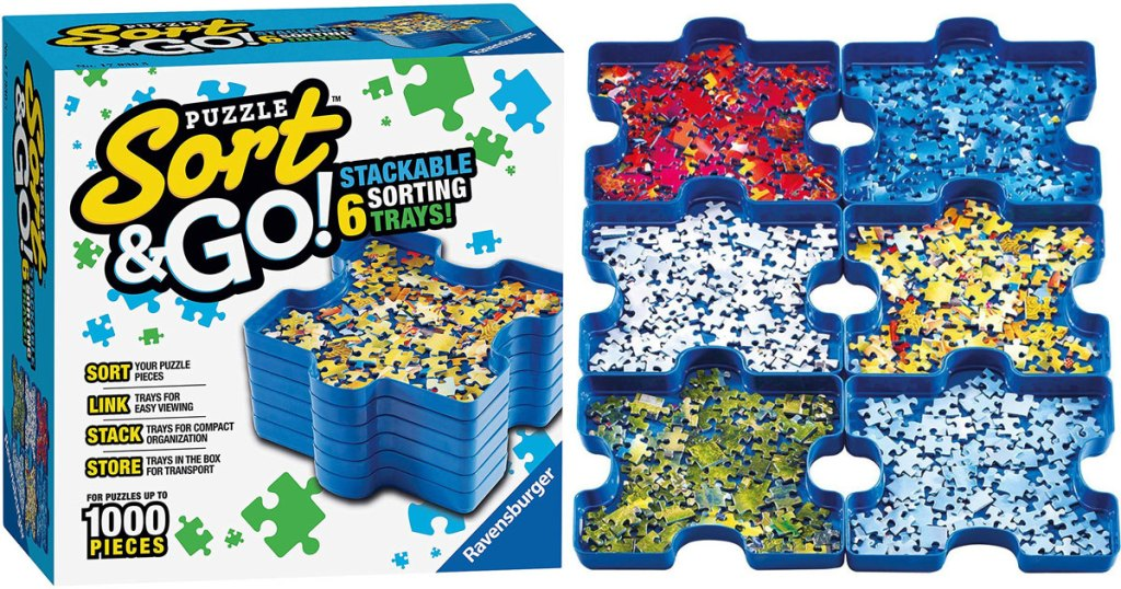 Ravensburger Sort and Go Jigsaw Puzzle Accessory stock image