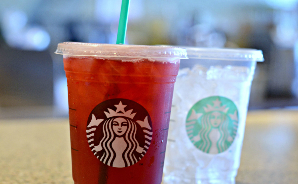 Starbucks tea iced drink