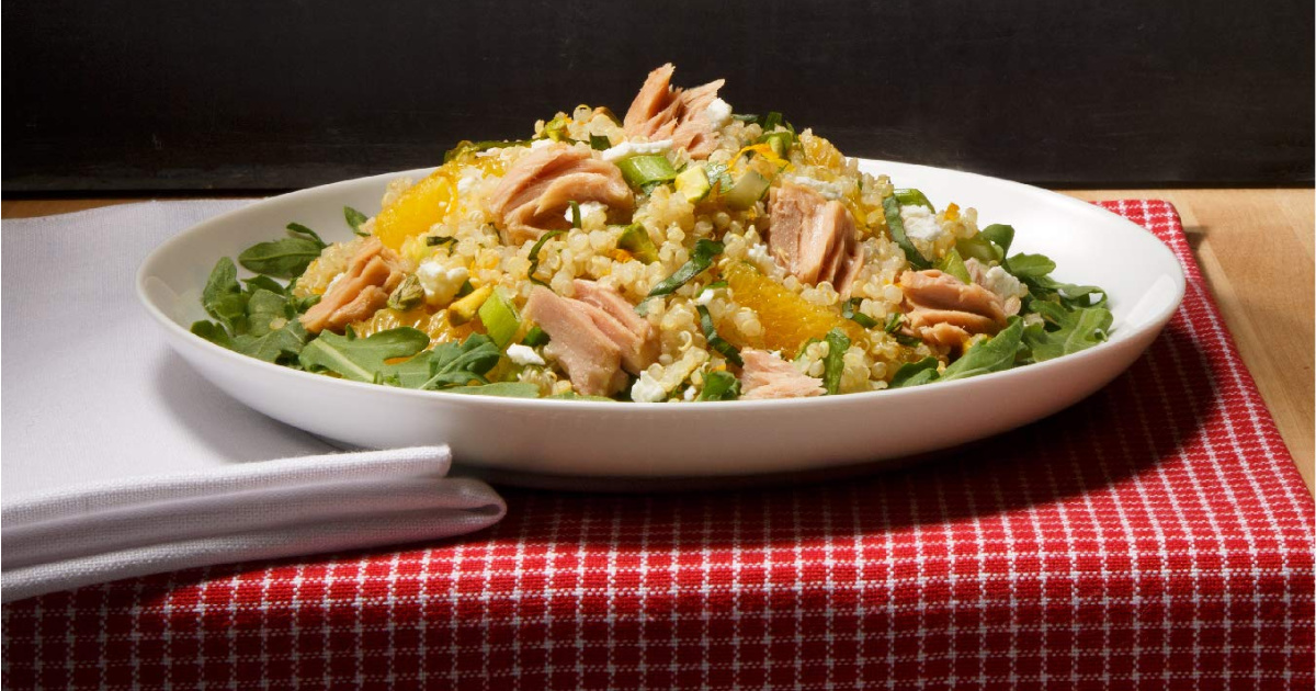 salad with starkist tuna on plate
