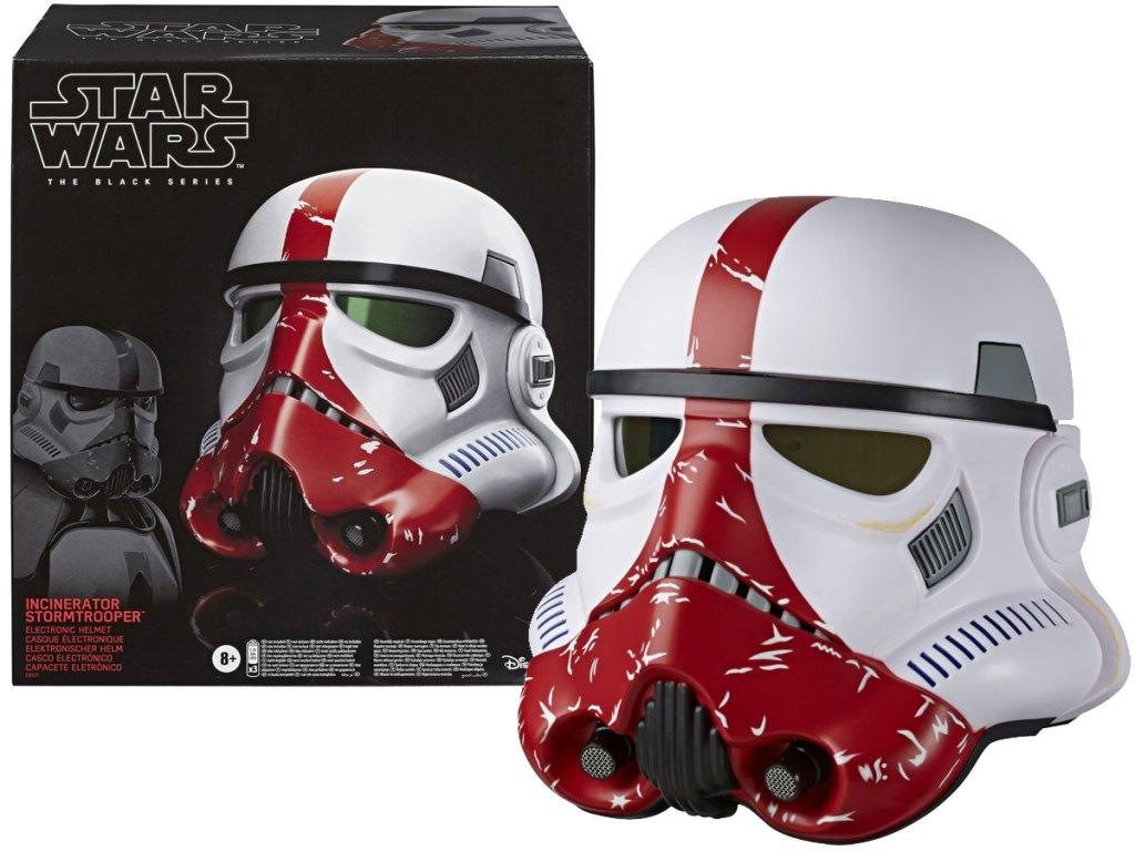 Star Wars Incinerator Stormtrooper electronic helmet. stock image