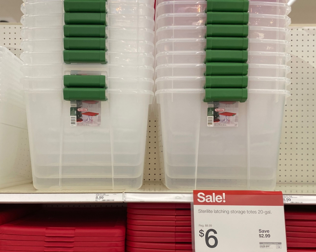 Sterilite clear tubs