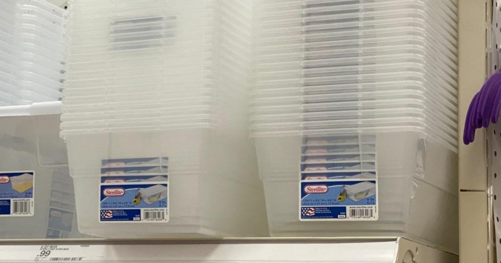 Sterilite 6 quart clear tubs