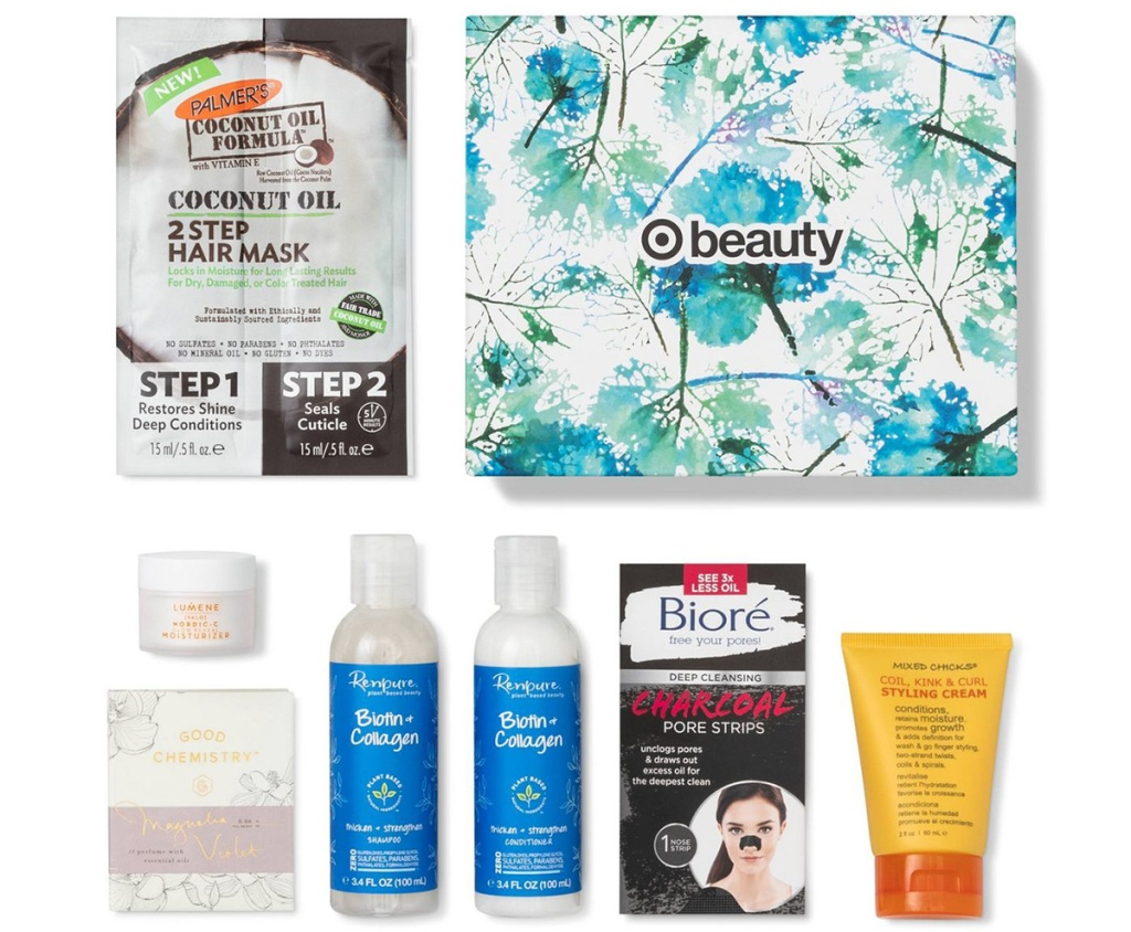 Target December Beauty Box contents