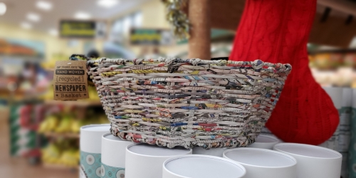 Handwoven Recycled Newspaper Baskets – Just $5.99 at Trader Joe's