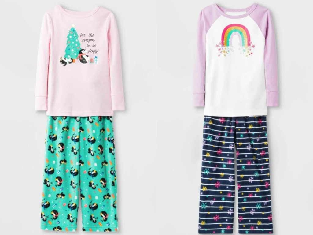 little girls holiday pajama sets