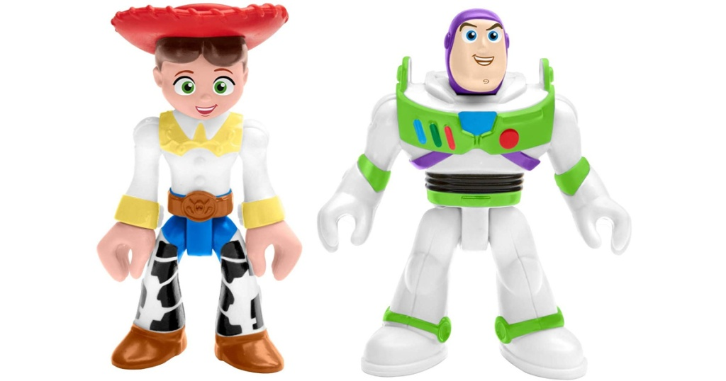 toy story figures with a white background