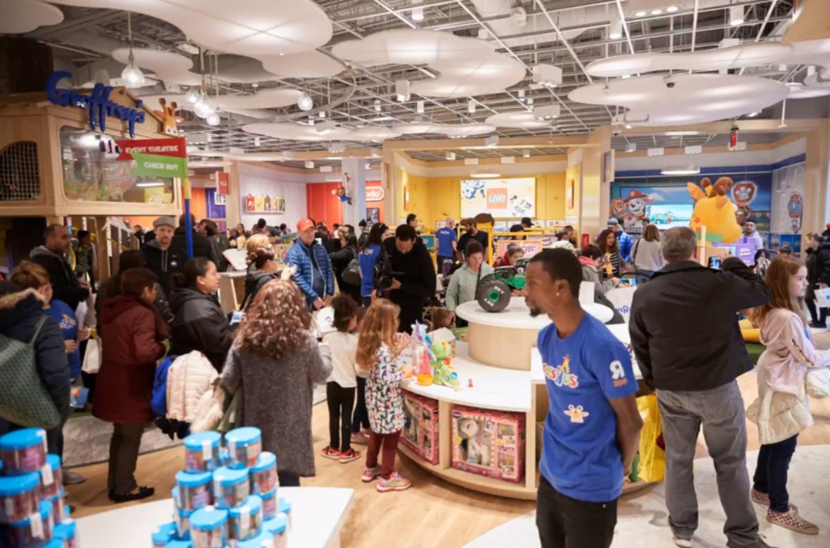 interior of the Paramus, NJ Toys R Us store