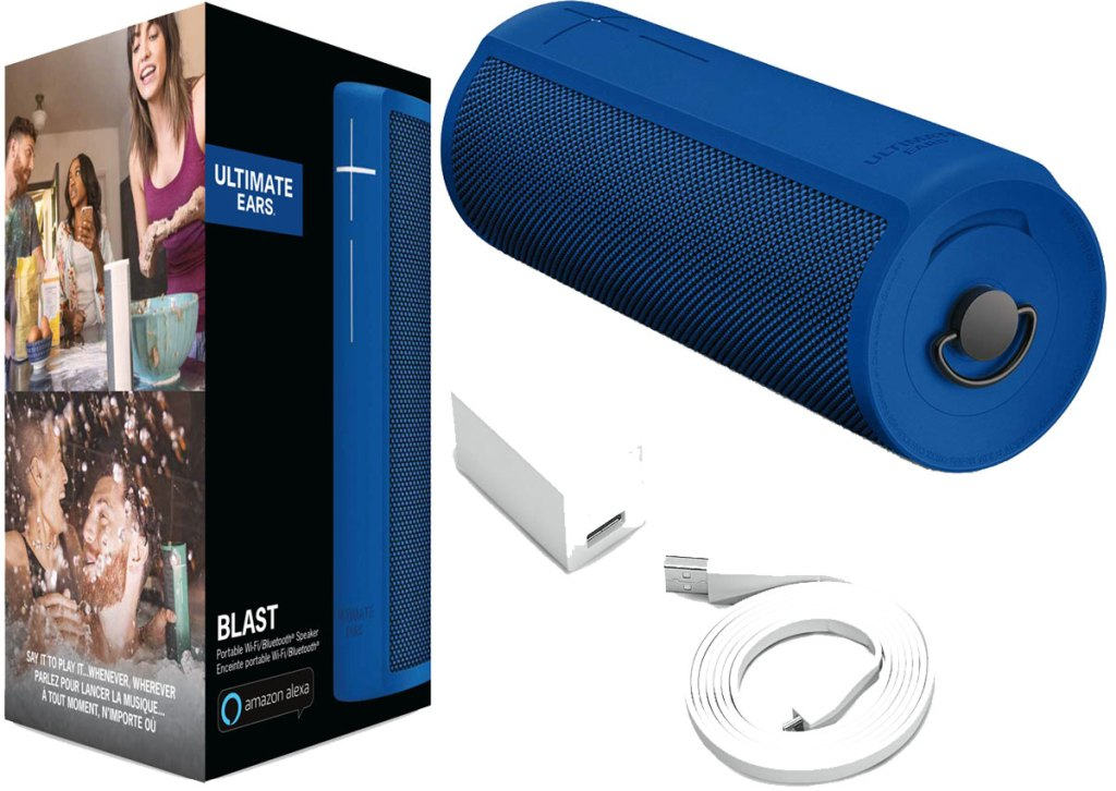 Ultimate Ears BLAST Portable Waterproof Wi-Fi and Bluetooth Speaker in blue