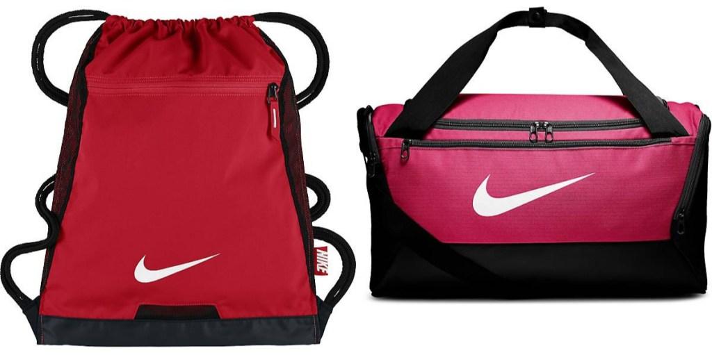 nike sack and duffel bag