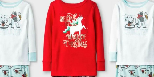 Cat & Jack Toddler Holiday Pajama Sets Only $3.99 at Target