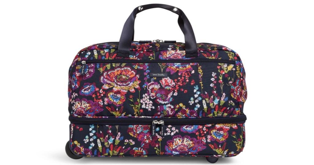 vera bradley wheeled luggage bag