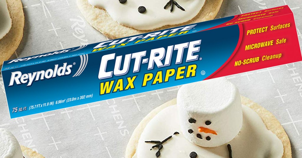 Reynolds Cut-Rite Wax Paper, 75 Square Feet on plate of cookies