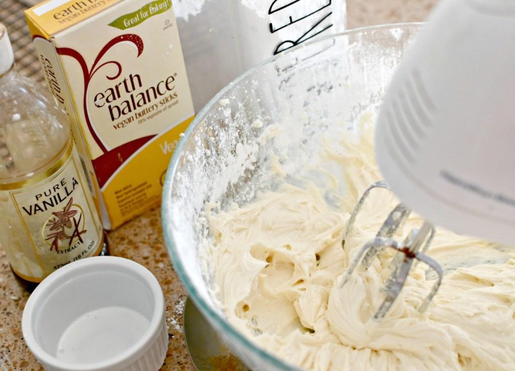 whipping up vegan vanilla frosting
