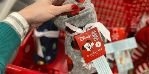 Kids Holiday Fleece Pants Only $3.50 Shipped at Target.com | Disney, Rudolph + More