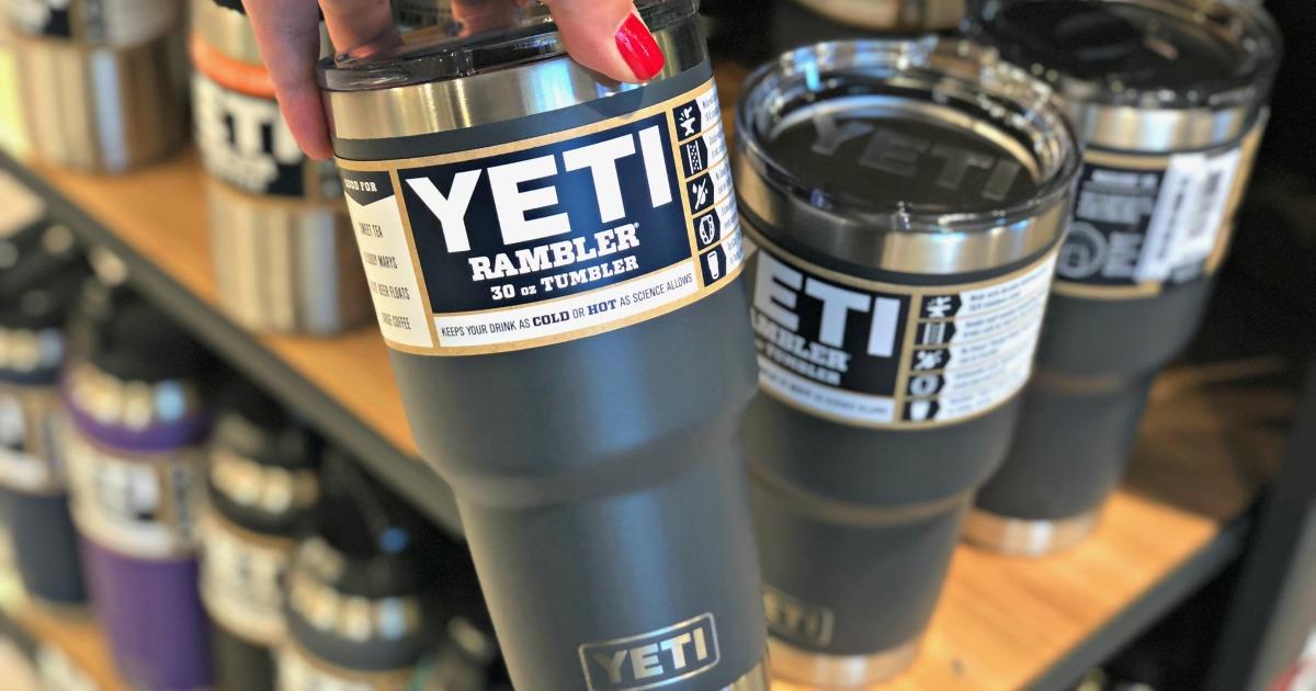 yeti tumbler in the store