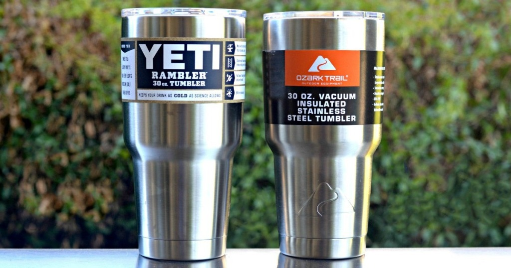 yeti and ozark tumbler side by side
