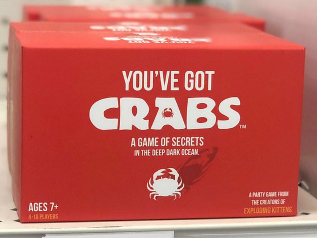boxed board game on shelf in store