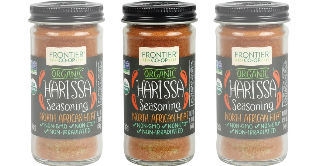 1.9-ounce jar of Frontier Organic Harissa Seasoning