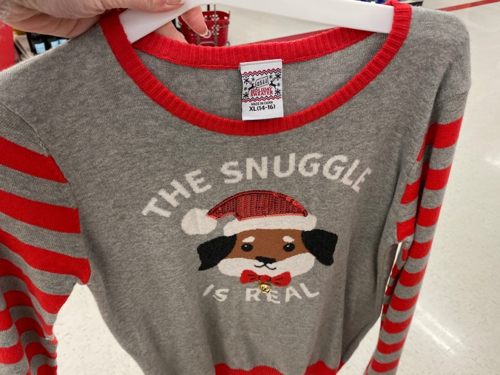 Well Worn Girls' The Snuggle Is Real Ugly Christmas Sweater