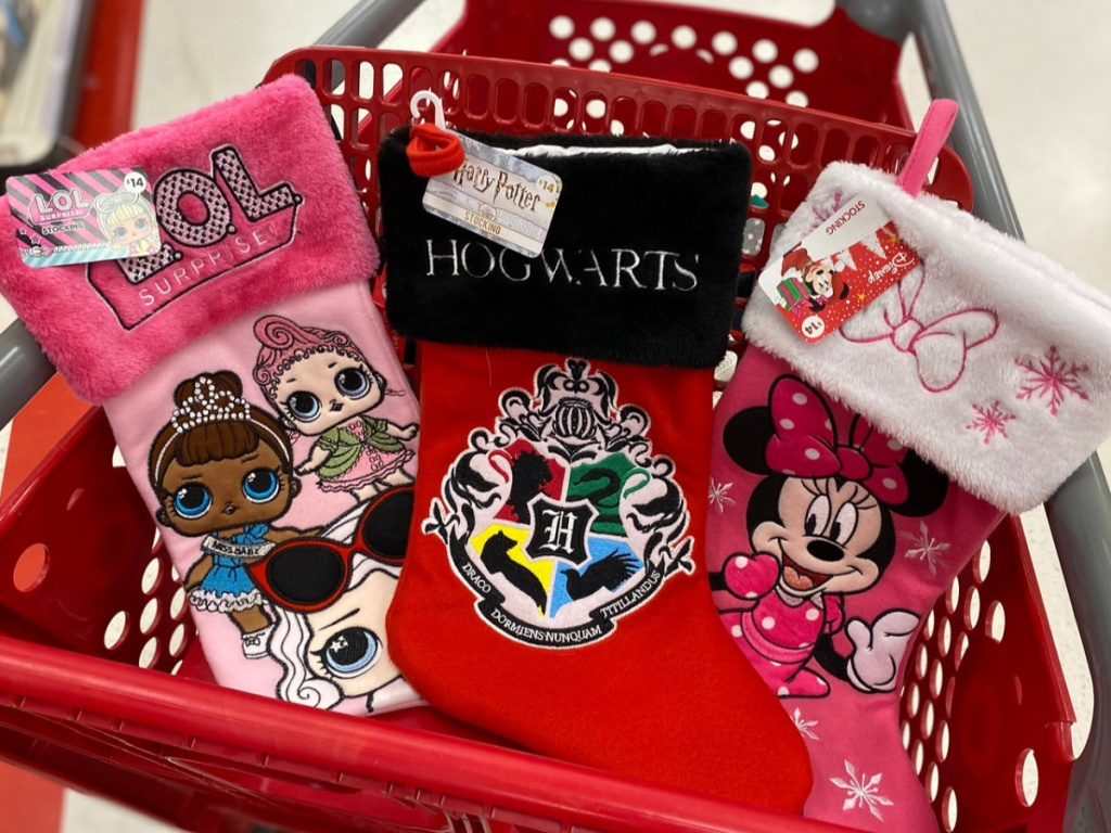 Character Christmas Stockings in Target shopping cart