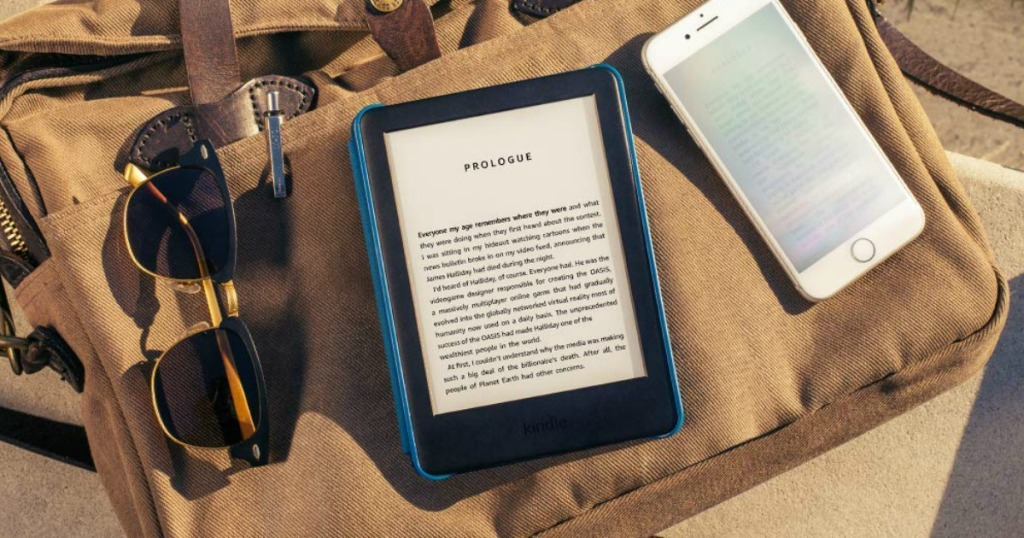 All-New Kindle Reader on Cargo Bag