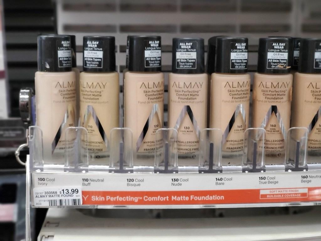 Almay Matte Foundations on CVS store shelf