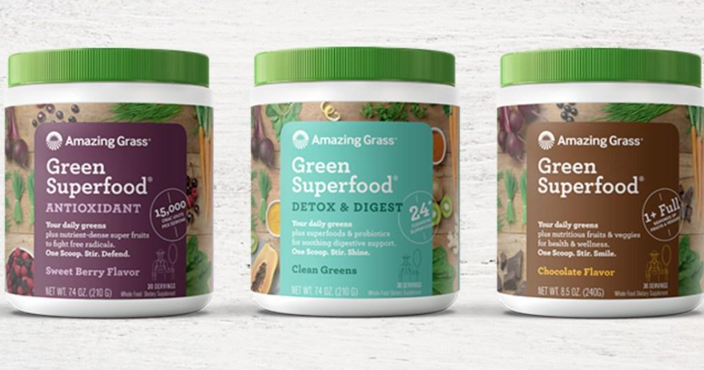 Amazon Grass Superfood Powders at Amazon
