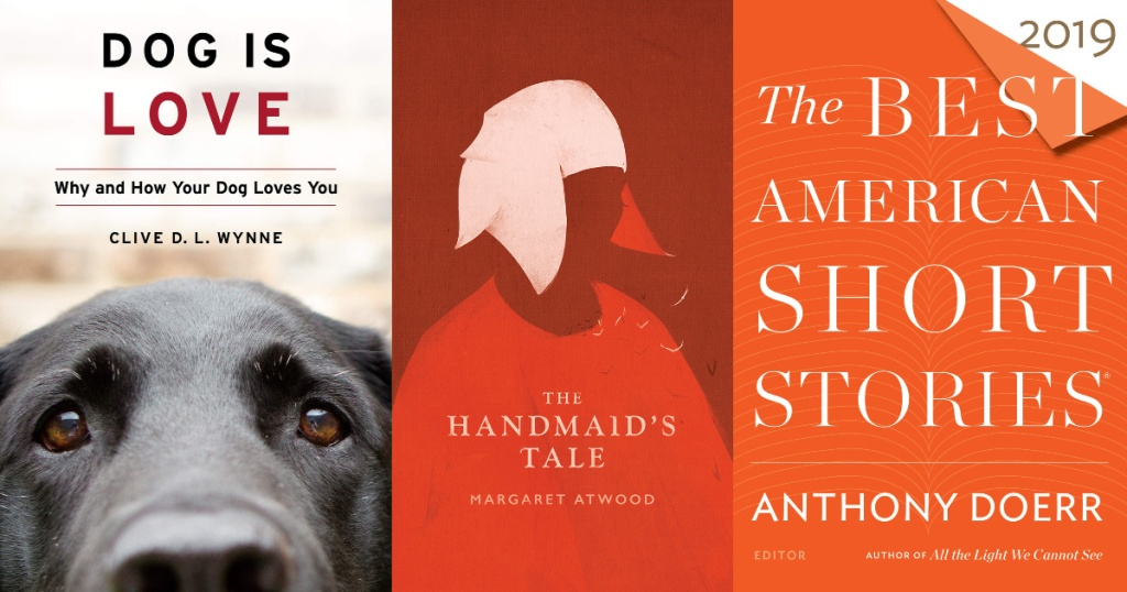 Amazon Kindle Books dog is love, the handmaid's tale, the best american short stories