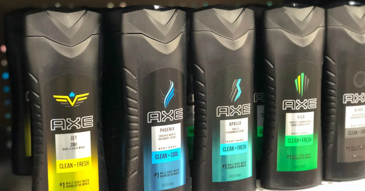 Axe Body Washes on store shelf