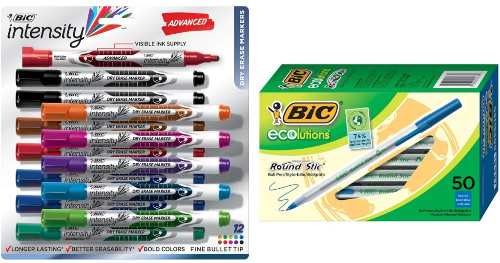 BIC Intensity dry erase markers and BIC ecolutions pens